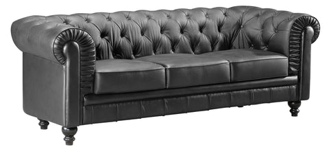 Chez Roulez - Seating - ZUO - Aristocrat Sofa - Black - 1
