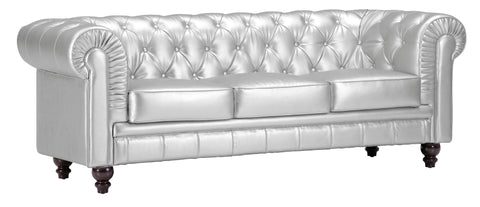 Chez Roulez - Seating - ZUO - Aristocrat Sofa - Silver - 1