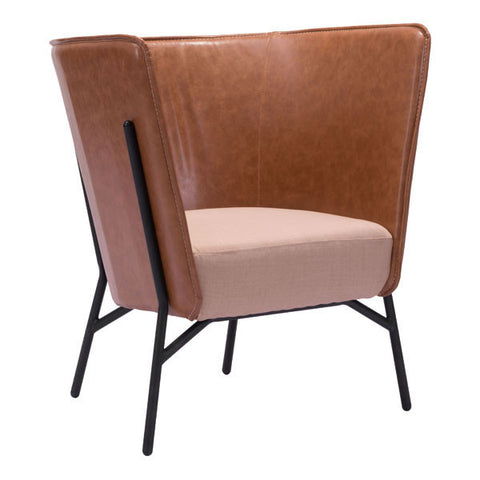 Chez Roulez - Seating - ZUO - ASSANGE OCCASIONAL CHAIR - COFFEE & BEIGE - 1