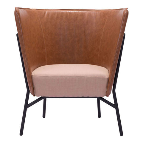 ASSANGE OCCASIONAL CHAIR - COFFEE & BEIGE