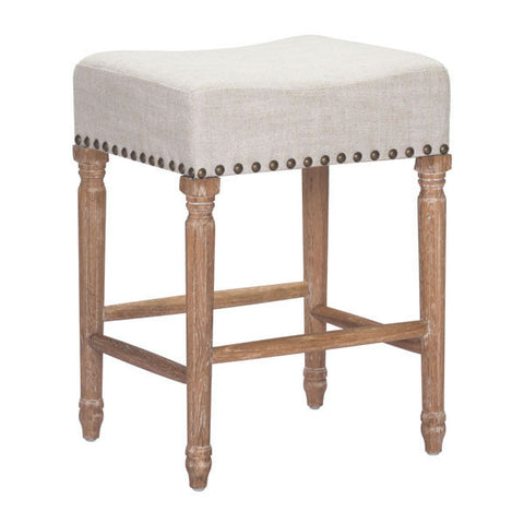 Chez Roulez - Bar Stools and Chairs - ZUO - ANAHEIM COUNTER STOOL - BEIGE  - Set of TWO stools - 1