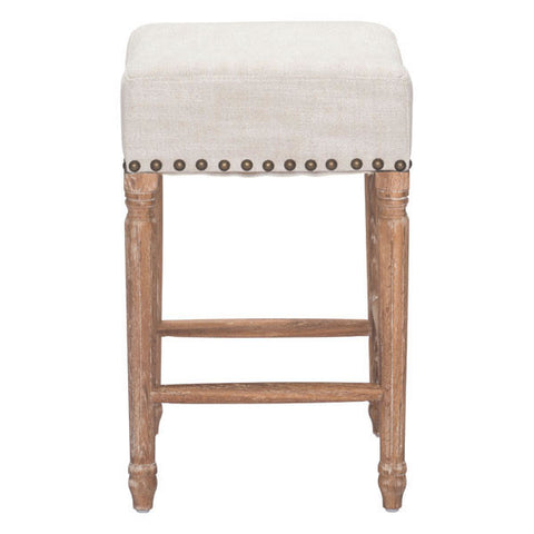 ANAHEIM COUNTER STOOL - BEIGE  - Set of TWO stools