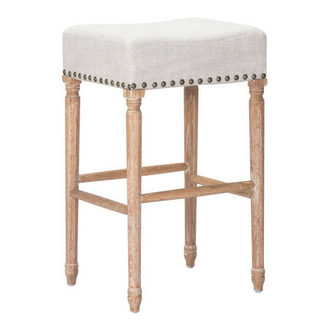 Chez Roulez - Bar Stools and Chairs - ZUO - ANAHEIM BARSTOOL - BEIGE  - Set of TWO stools - 1