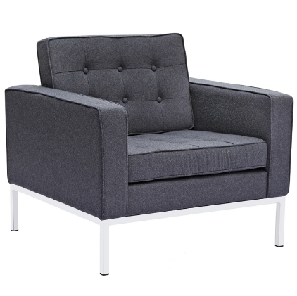 Button Wool Chair - Gray