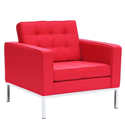 Button Wool Chair - Red