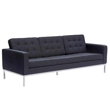 Chez Roulez - Seating - Fine Mod Imports - Button Wool Sofa - Black - 1