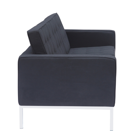 Button Wool Sofa - Black