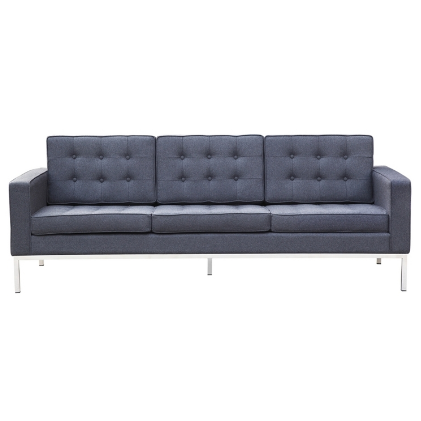 Button Wool Sofa - Gray