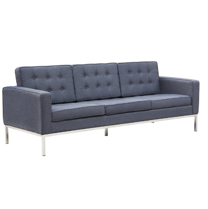 Chez Roulez - Seating - Fine Mod Imports - Button Wool Sofa - Gray - 1