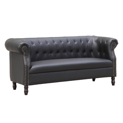 Chester Leather Sofa - Black
