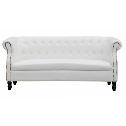 Chester Leather Sofa - White