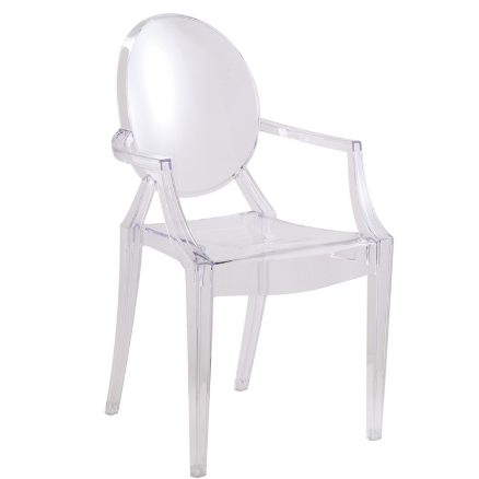 Chez Roulez - Seating - Fine Mod Imports - Clear Arm Chair - Set of 2 or 4 - 1