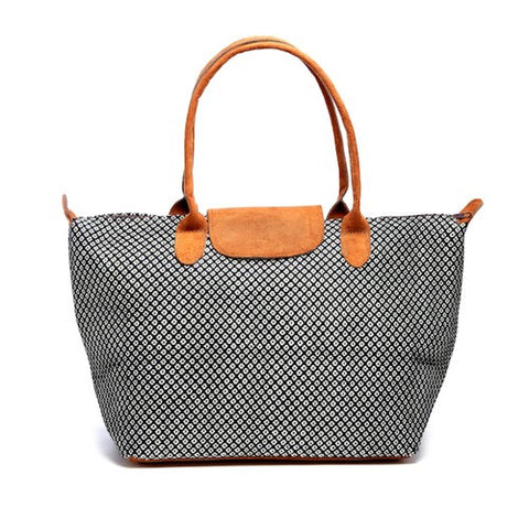Floweret Tote - Navy - Chez Roulez - Bags and Accessories - Bamboo Trading Company