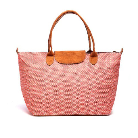 Floweret Tote - Apricot - Chez Roulez - Bags and Accessories - Bamboo Trading Company