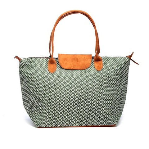 Floweret Tote - Green - Chez Roulez - Bags and Accessories - Bamboo Trading Company