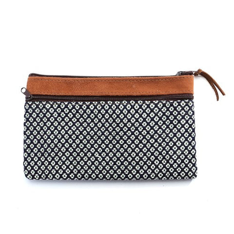 Floweret Pouch - Blue - Chez Roulez - Bags and Accessories - Bamboo Trading Company