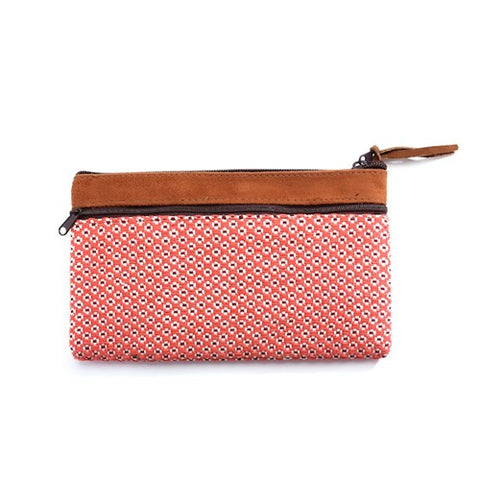 Floweret Pouch - Apricot - Chez Roulez - Bags and Accessories - Bamboo Trading Company