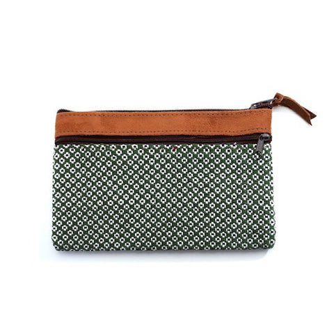 Floweret Pouch - Green - Chez Roulez - Bags and Accessories - Bamboo Trading Company