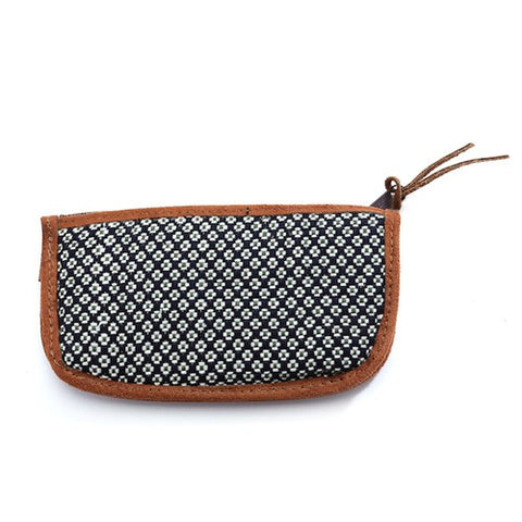 Floweret Sunglass Case - Navy - Chez Roulez - Bags and Accessories - Bamboo Trading Company