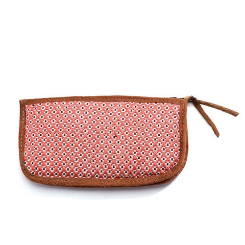 Floweret Sunglass Case - Apricot - Chez Roulez - Bags and Accessories - Bamboo Trading Company