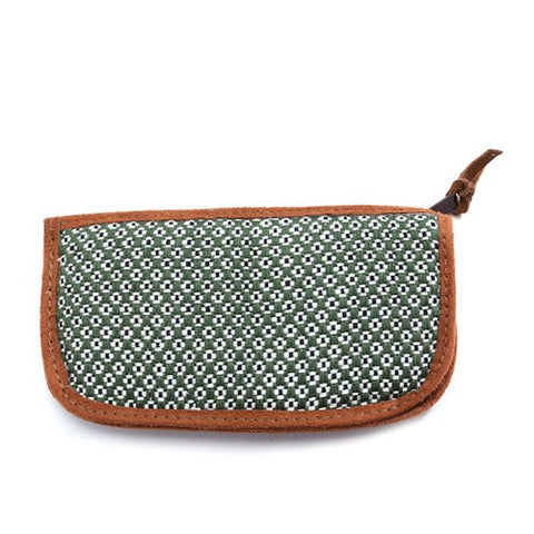 Floweret Sunglass Case - Green - Chez Roulez - Bags and Accessories - Bamboo Trading Company