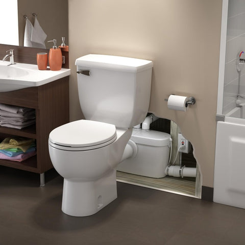 Saniflo Saniacess3 Rear Spigot Toilet with Macerating Pump - 082