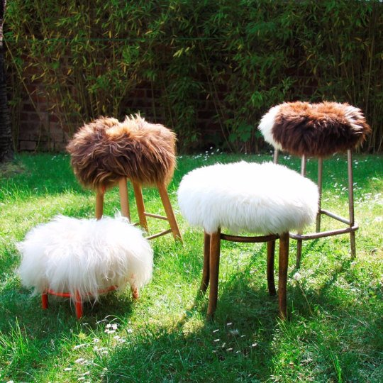 Sheepskin Stool Covers! Round/Square/Rectangle.