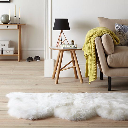 Triple Sheepskin Carpet Rug.