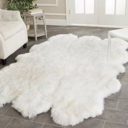 Sextuple Sheepskin Carpet Rug.