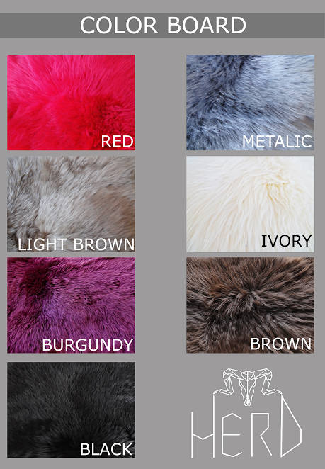 Small sized, 7 Different colors, Square and Rectangle Real Sheepskin Rugs.
