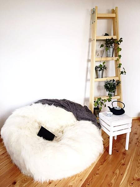 Sheepskin Beanbag -  Very big & Amazingly comfortable!