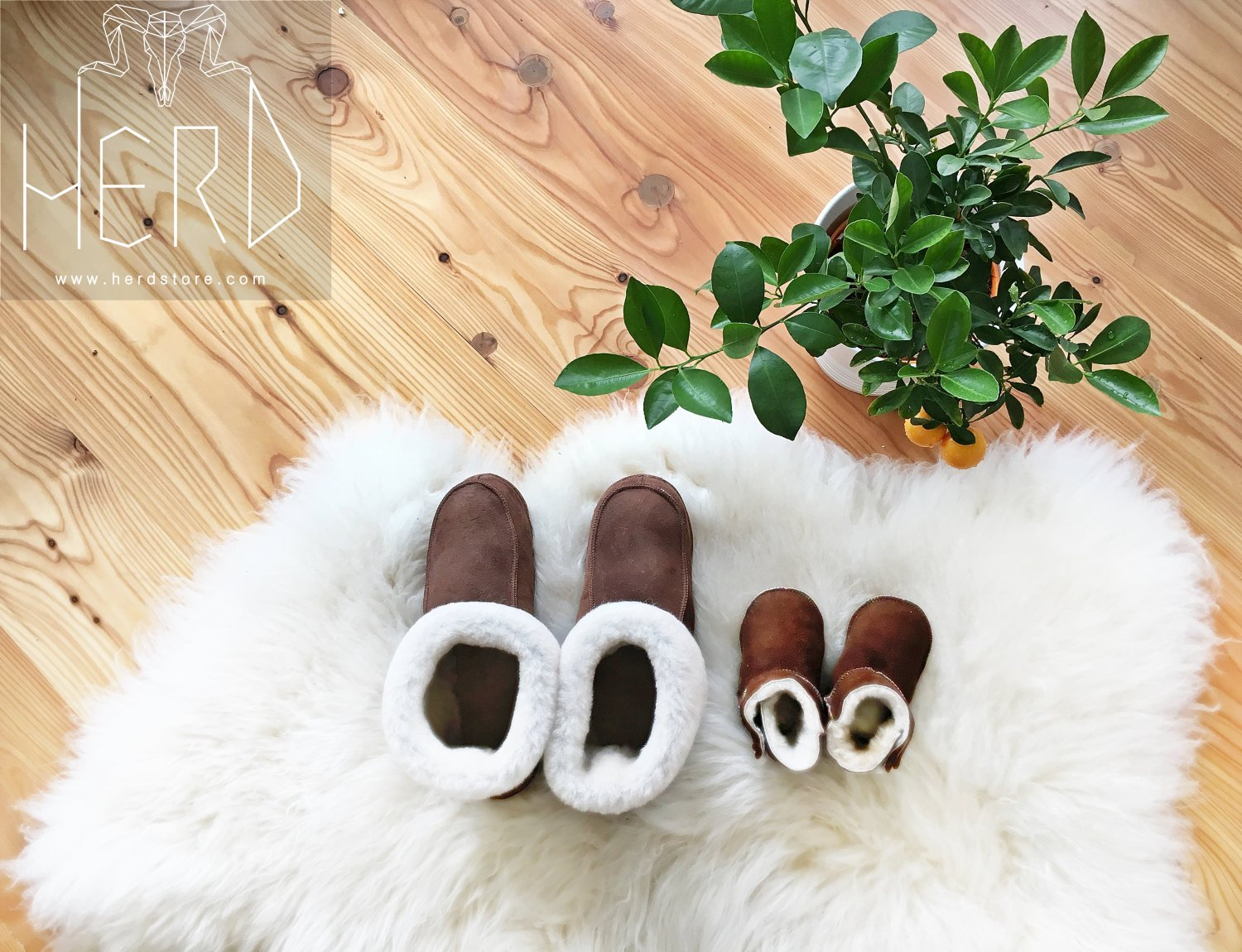 Bambosze Sheepskin Slippers