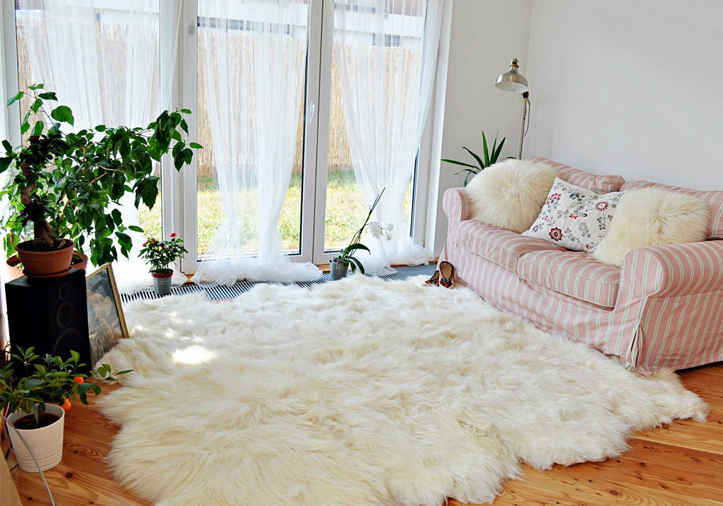 Octuple Sheepskin Carpet Rug.