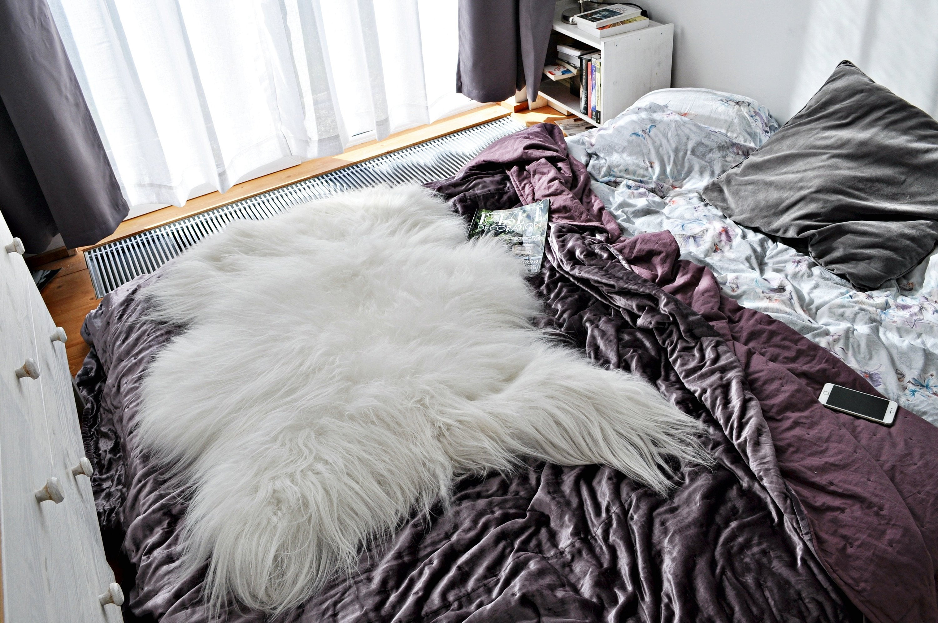 Very Big & Long Hair White ICELAND Rugs