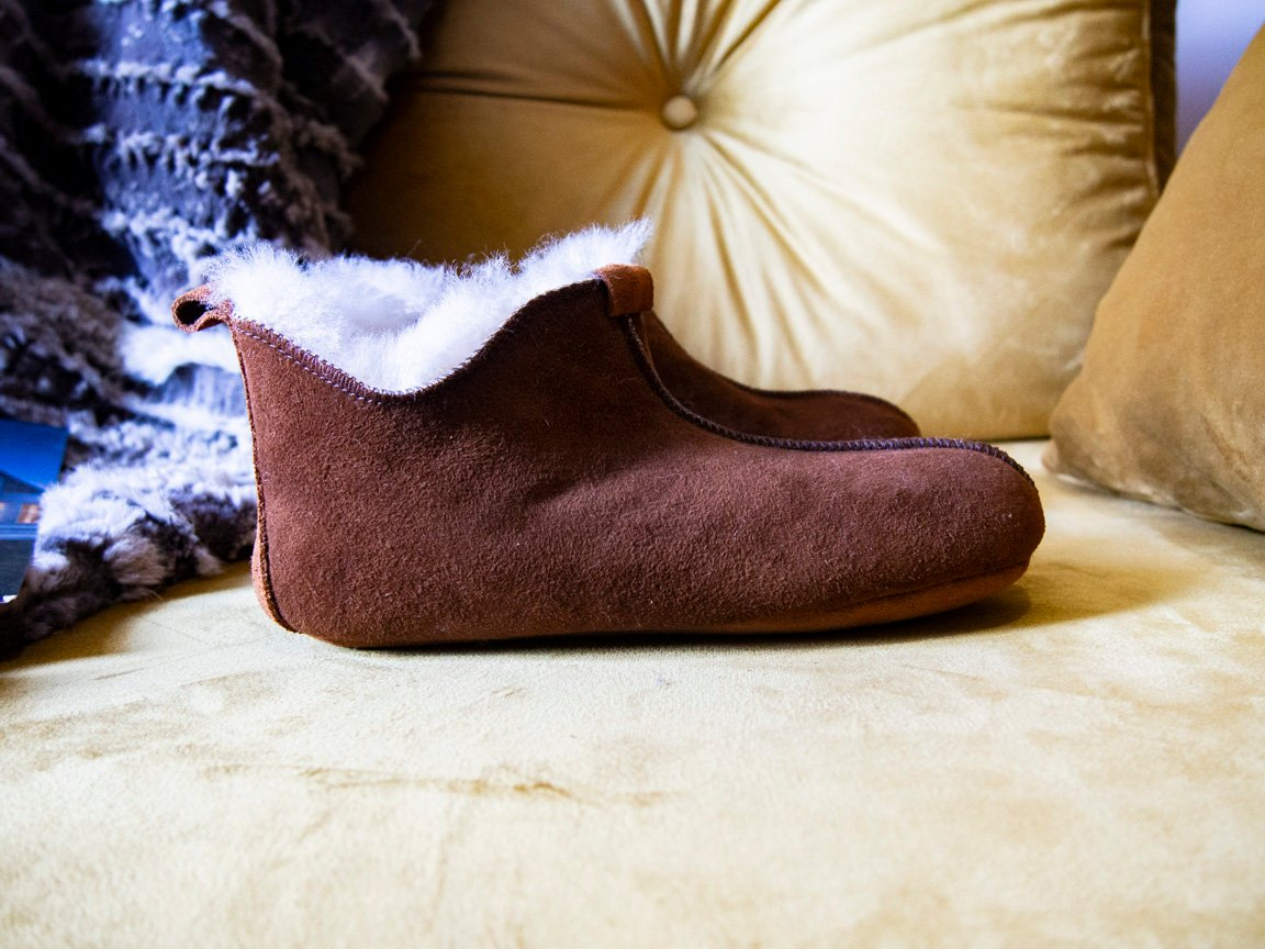 shearling sheepskin slippers