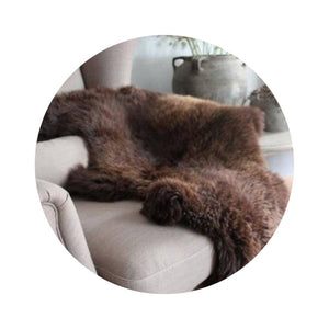 Natural Brown Sheepskin