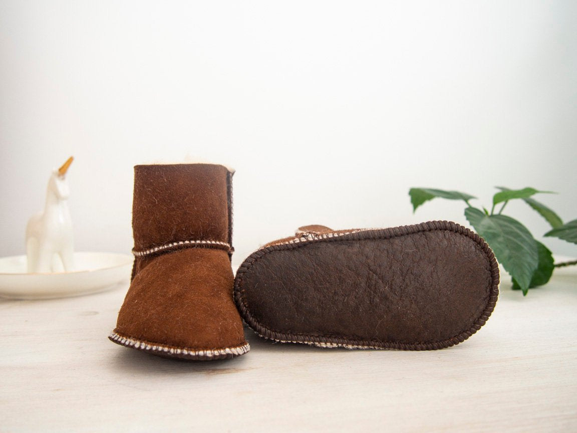 Baby Brown Sheepskin Boots.