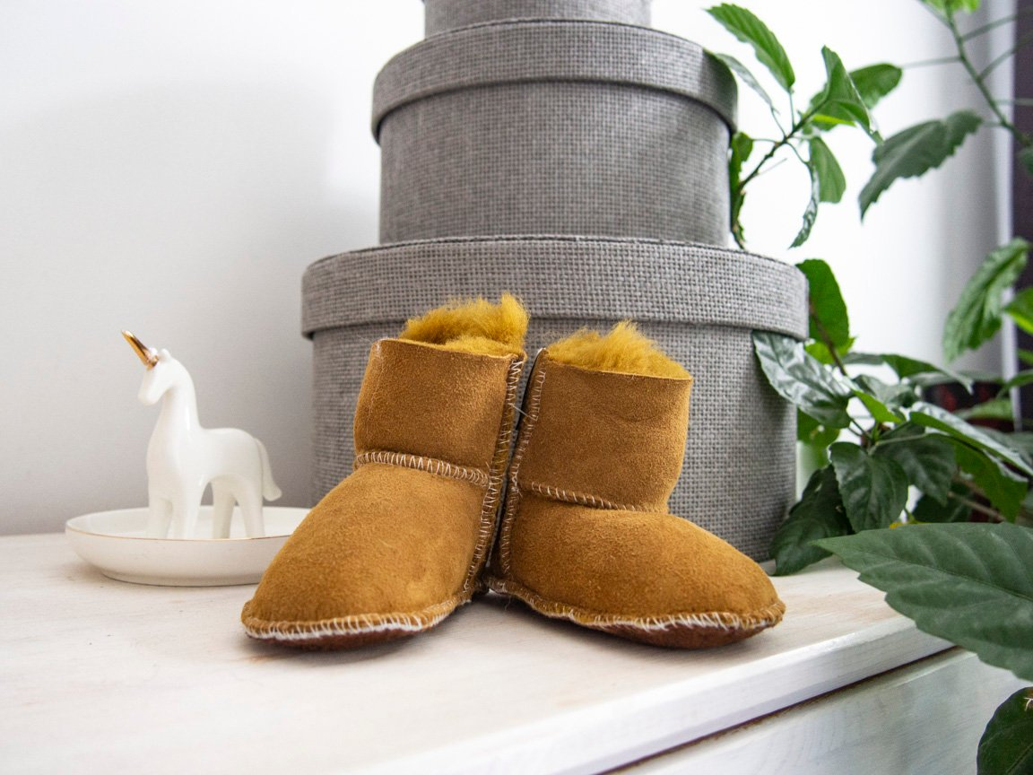 Real Leather Slippers For Kids.