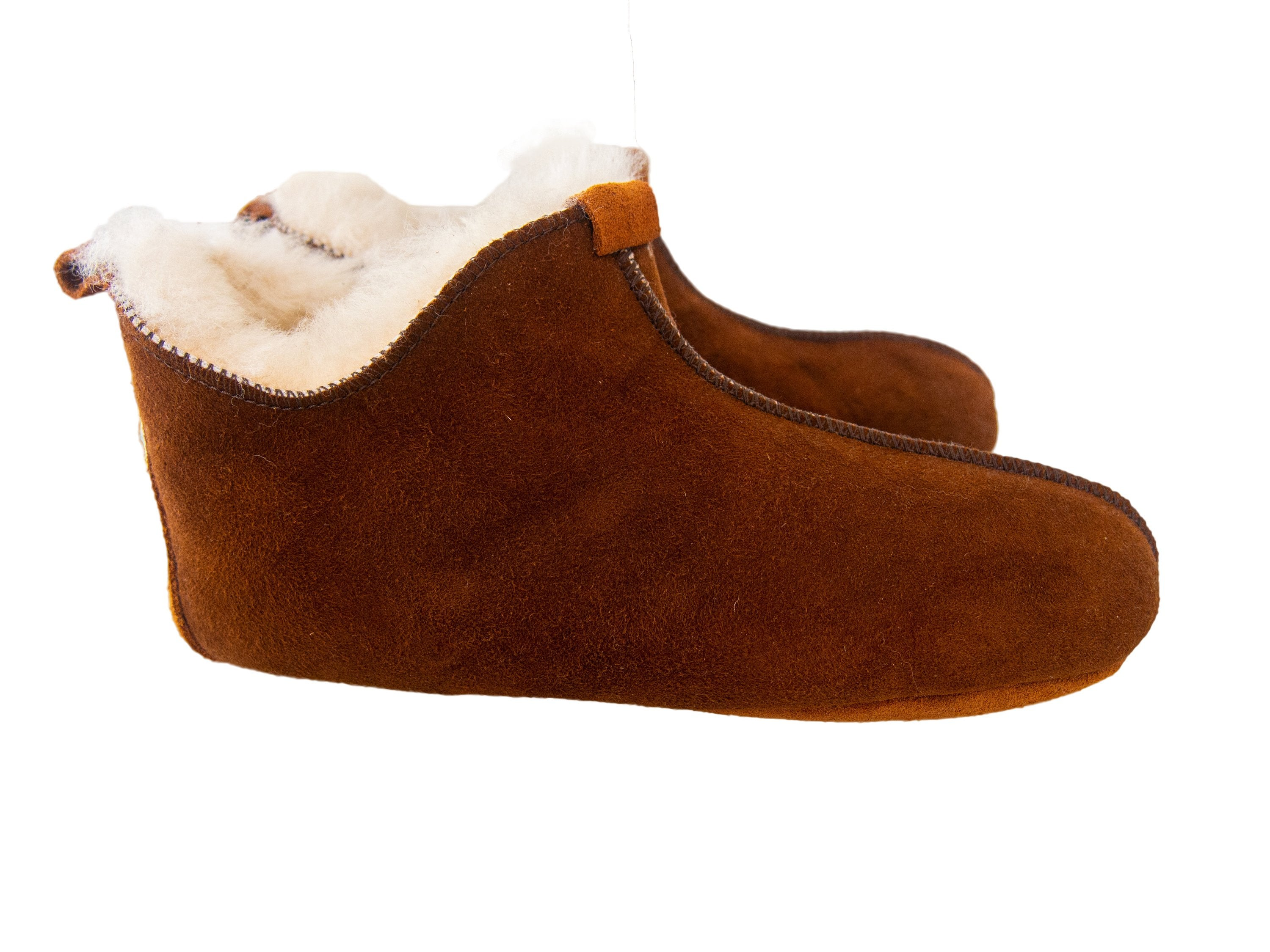 Brown Leather Slippers.