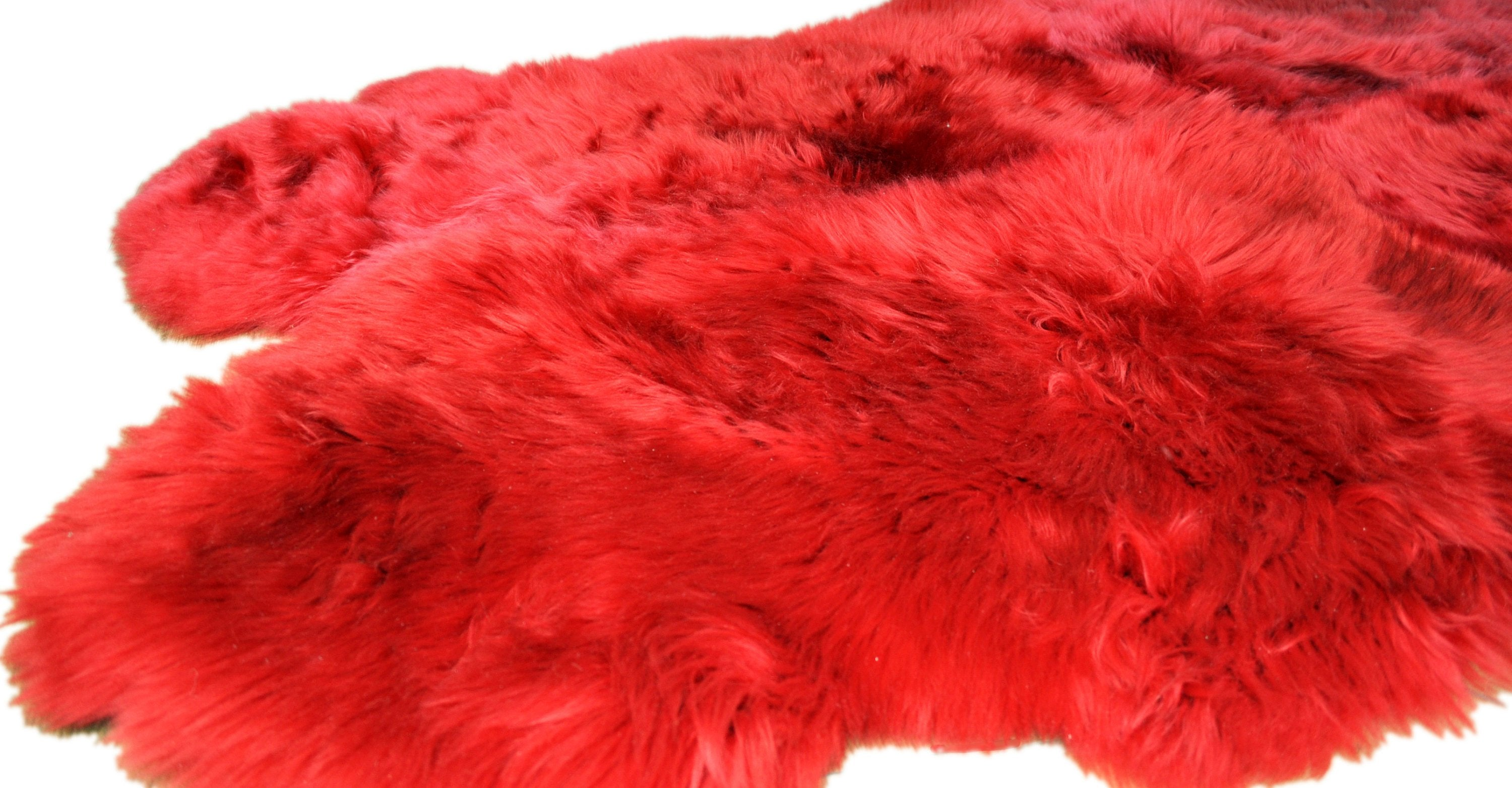 Quadruple Sheepskin Rug. Different Colors.