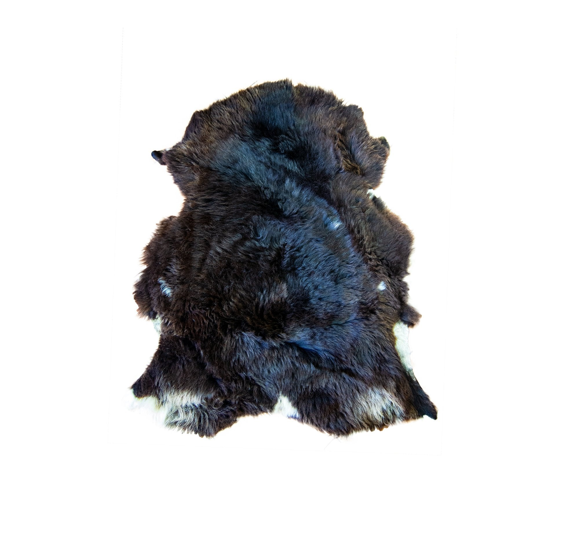 Natural Dark Brown Rare Breed Sheepskin Rug | HUGE 140cm