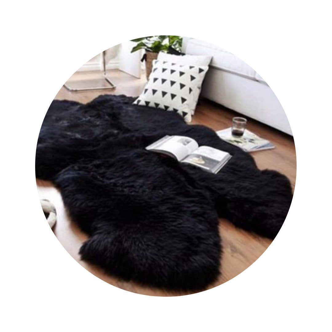 Quadruple Sheepskin Carpet Rug.