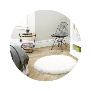 Small Sheepskin Round Rugs