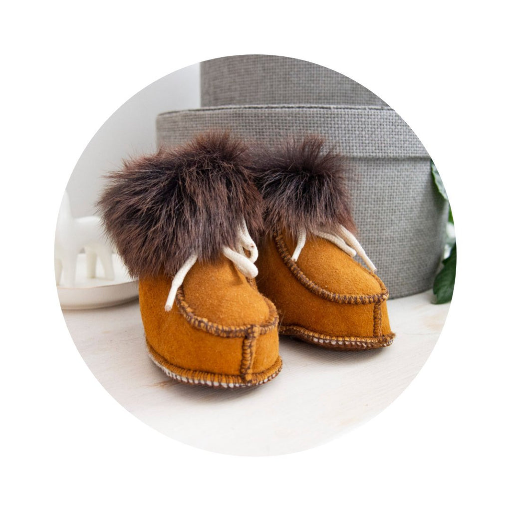 Real Leather Sheepskin Boots.