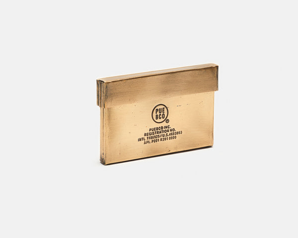 Card Case - Brass
