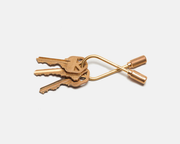 Closed Helix Keyring - Brass