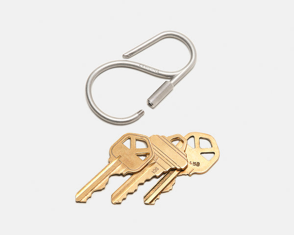 Offset Keyring - Stainless Steel