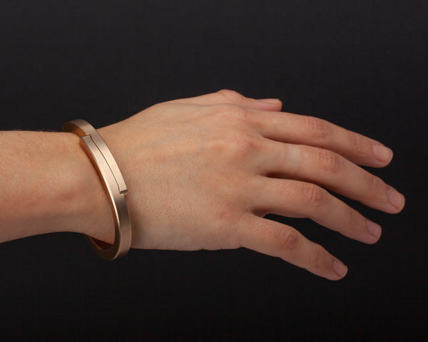Ridge Cuff - Brass