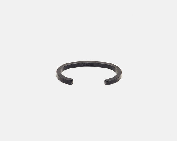 Uniform Square Cuff - Carbon Black