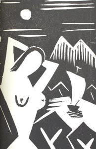 1920. 3 original linocuts by Karel Teige. Teige's first illustrated book.